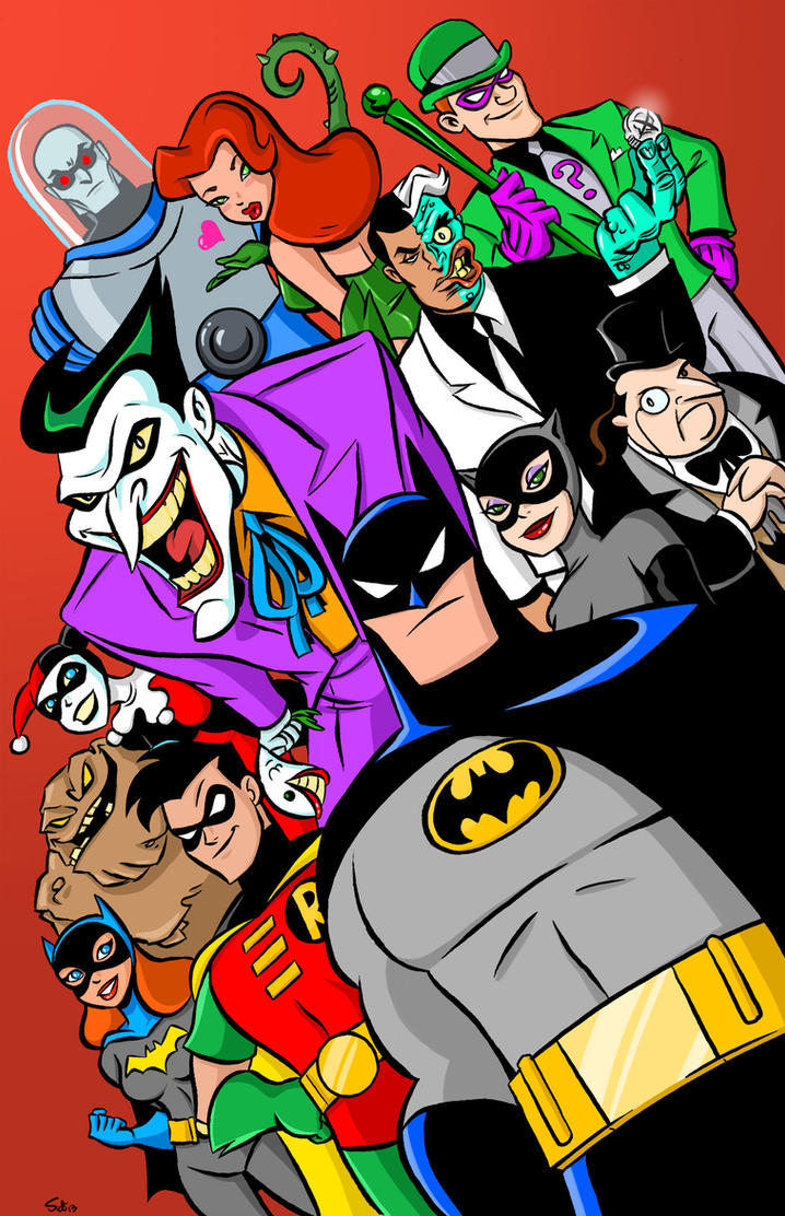 Batman the Animated Series Poster IN COLOR! by scootah91