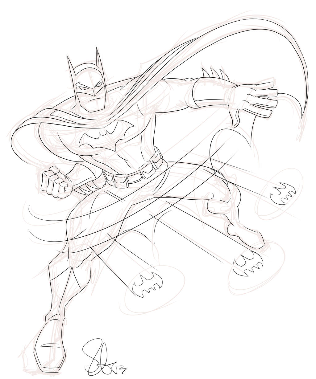 Quick Batman sketch by scootah91