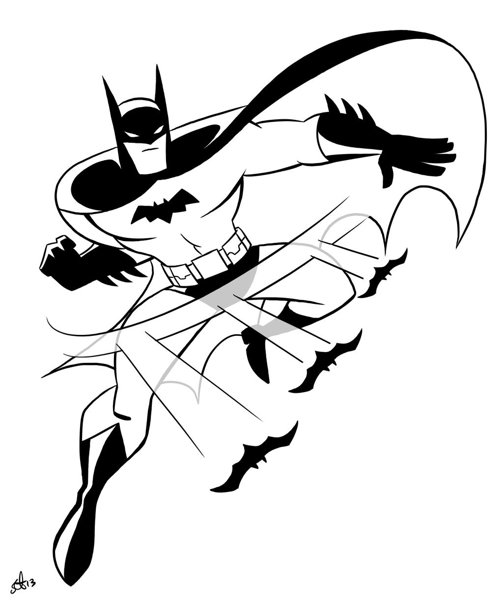 Batman Animated Justice League throwing batarangs by scootah91