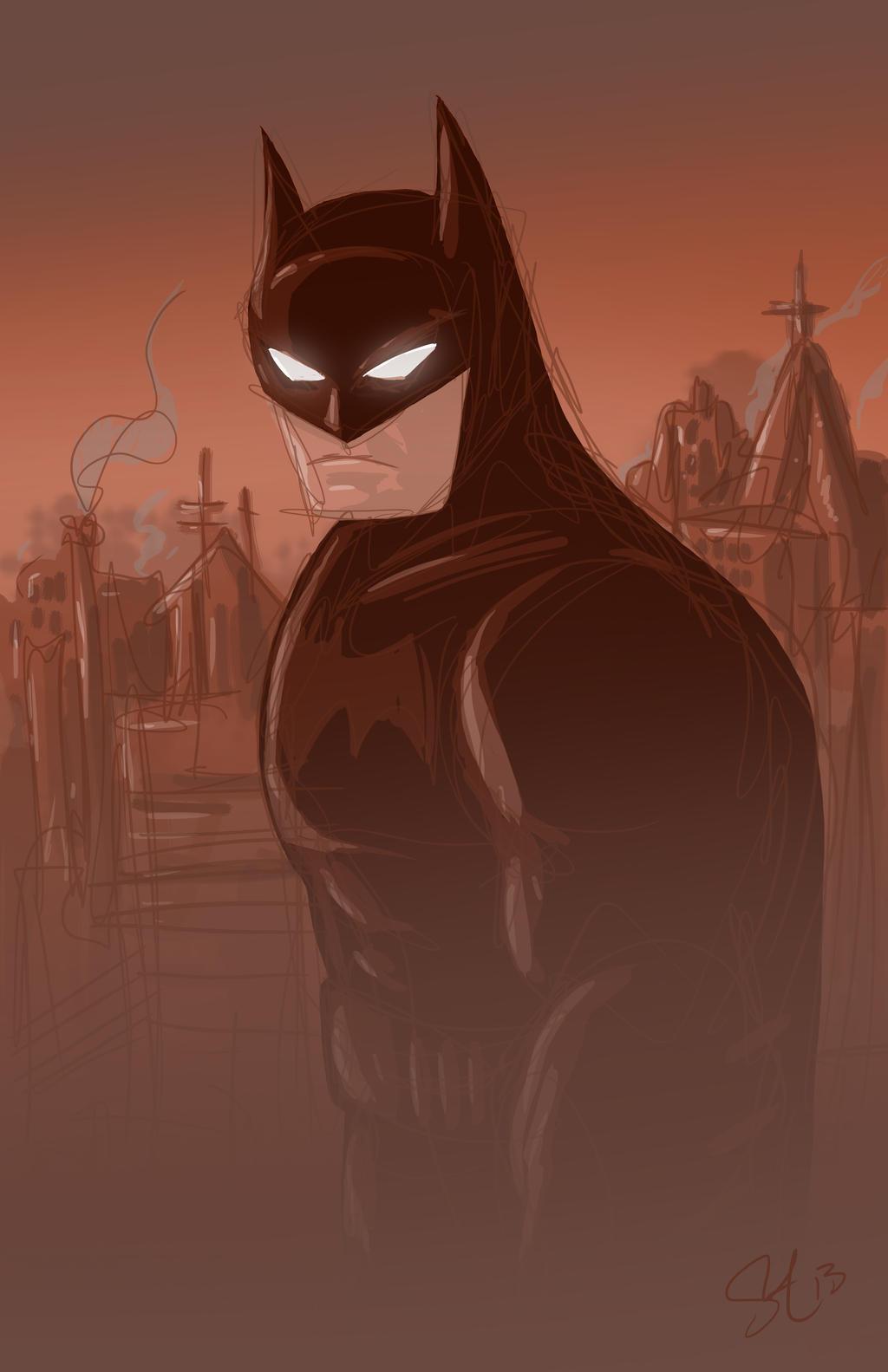 Foggy Dark Knight. by scootah91