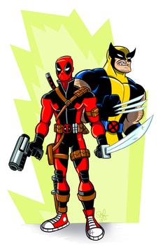 Wolverine and Teenage Deadpool.