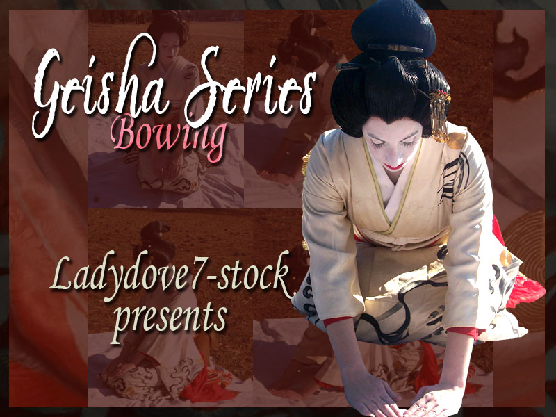 Geisha Bowing PACK by themuseslibrary
