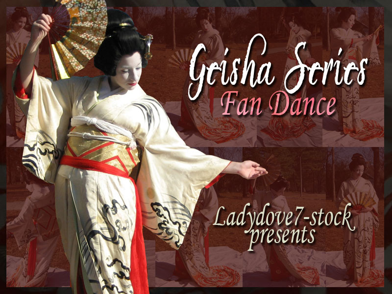 Geisha Fan PACK by themuseslibrary