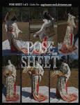 POSE SHEET 1 of 2: Geisha Fan