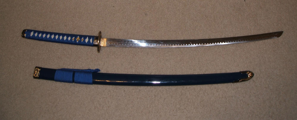 Blue Katana 1 by AngelaSasser-stock