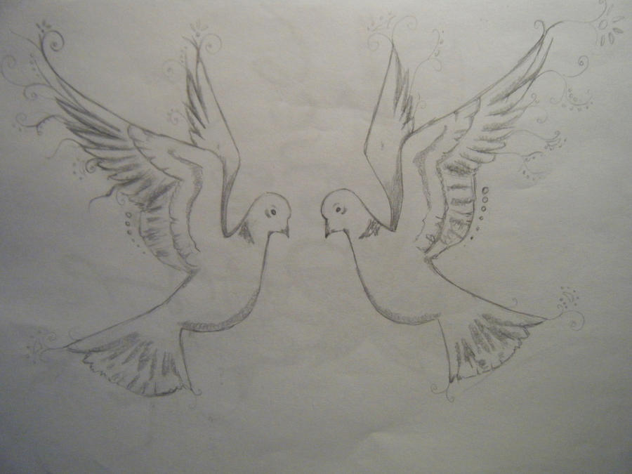 Two turtle doves tattoo by musicallyloved on deviantart for Two doves tattoo