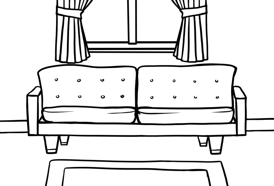 The Line Art And Living : Living room lineart by mama moose on deviantart
