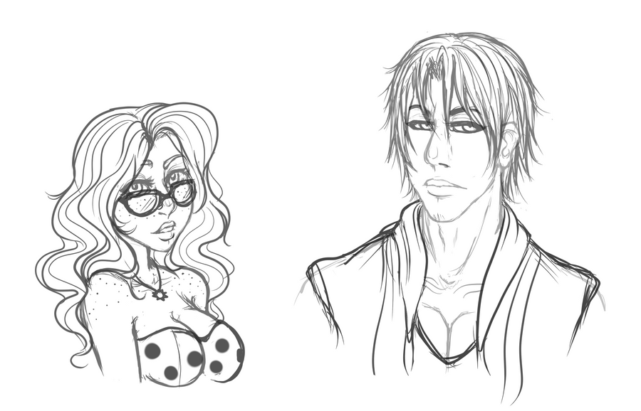 Bust Commissions - Morihime and Reaver by Mama-Moose