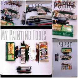 My painting tools by Tudalia