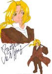 Edward Elric Signed by Vic