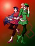 Rei Tweedledee and Makoto Tweedledum in Wonderland by TaCDLunaria91