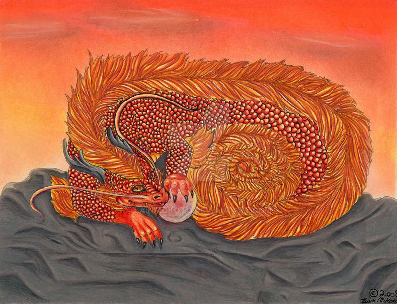 Oriental Sun Dragon by LainMokoto