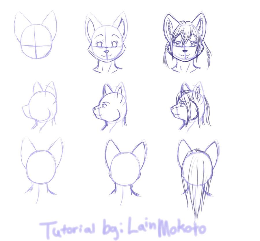 Как рисовать фурри кошках