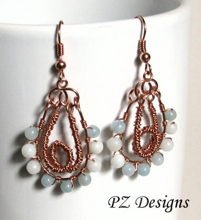 Mermaid Knot Earrings by PurlyZig