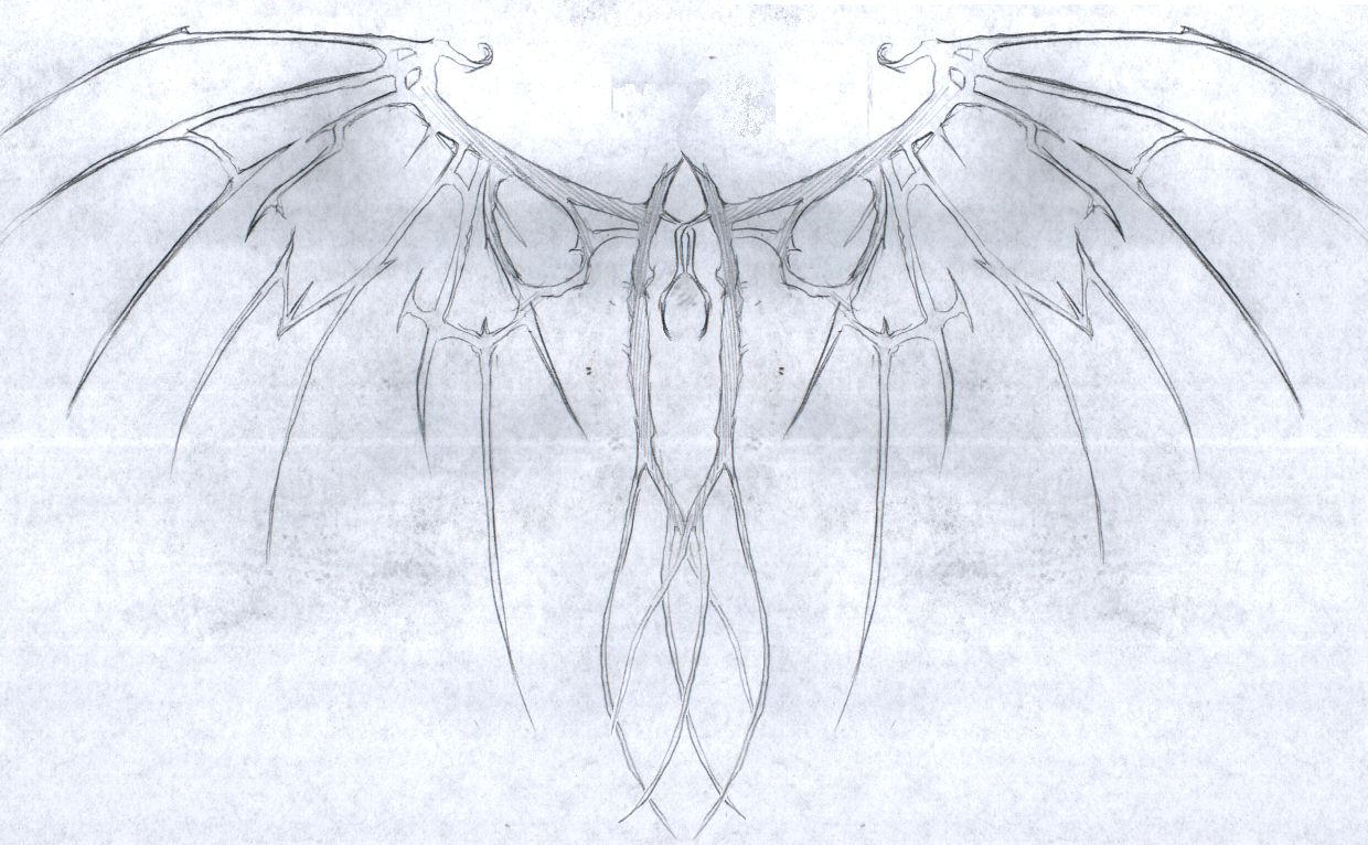 Rough: Scar Wings Tattoo by