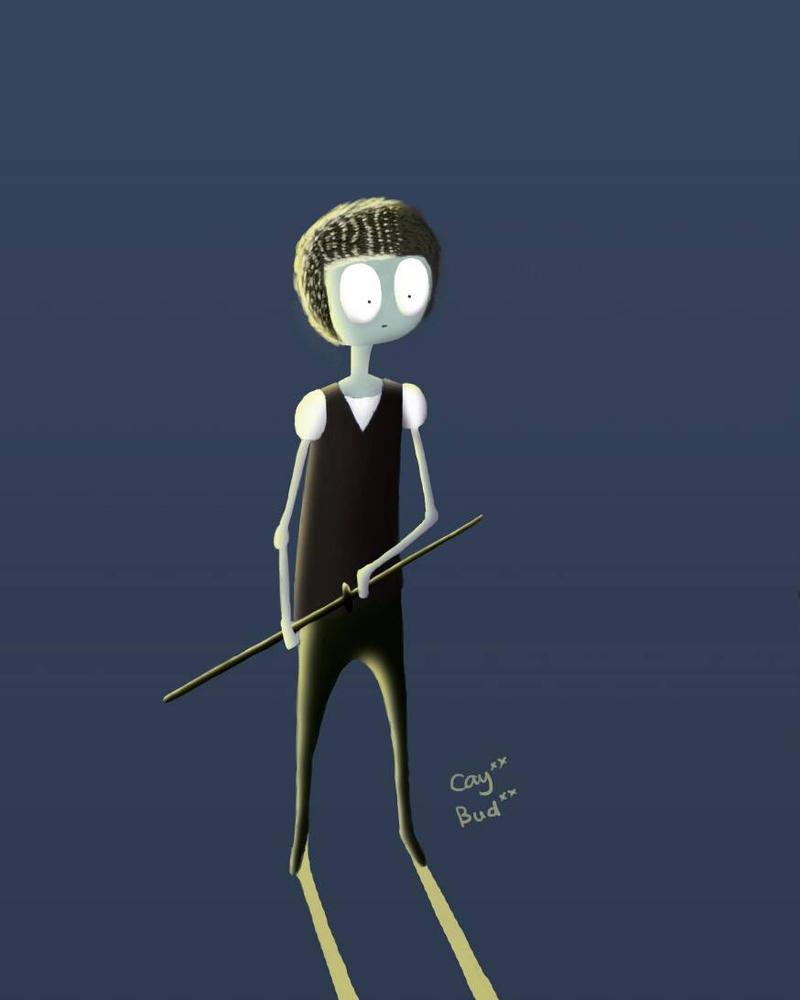 Skinny skeleton samurai by caycaybudbud