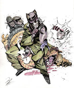 Blacksad tribute (ink+watercolor)