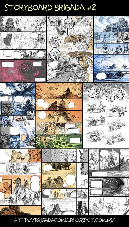 Brigada#2 Storyboard at half way. by EnriqueFernandez