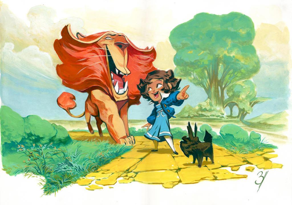Oz (gouache) by EnriqueFernandez
