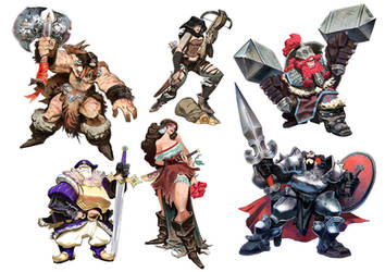 B-Sieged character designs by EnriqueFernandez