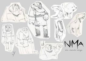 NIMA- Misc. character designs. by EnriqueFernandez