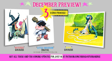 Patreon monthly preview (December 2017)