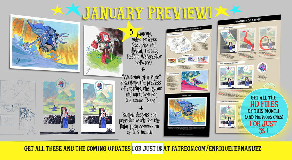 January Preview by EnriqueFernandez