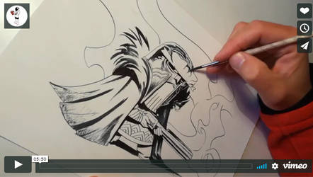 Inking a commission (VIDEO)