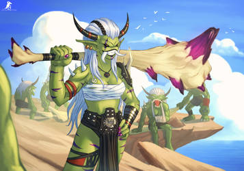 Ogerwomon (( Digimon I wish existed )) by CasperCrow