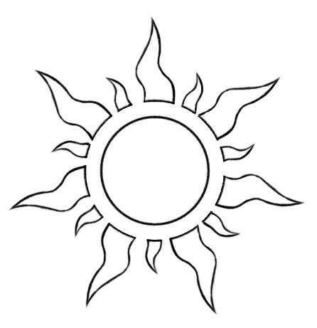 Vector tangled sun symbol by foxxbrush on deviantart for Rapunzel pumpkin template