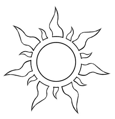 Vector Tangled Sun Symbol By Foxxbrush On Deviantart