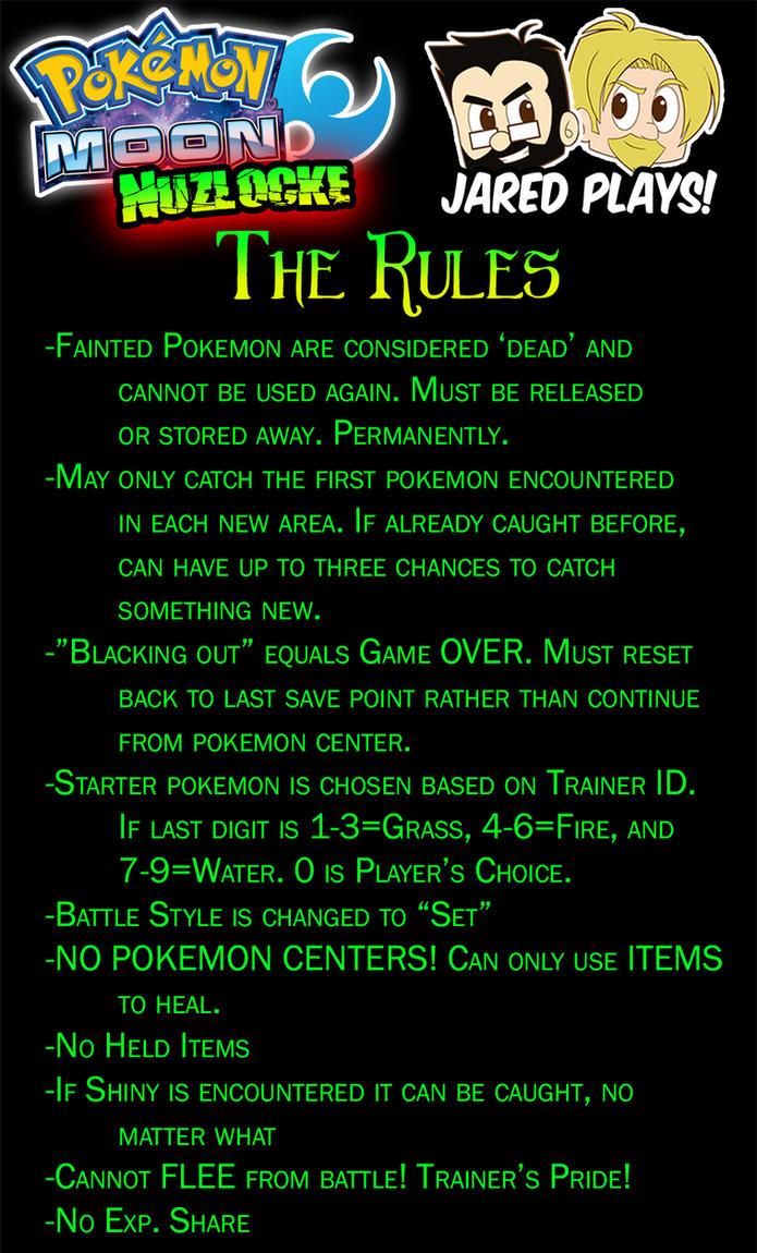 Code R.U.N. - Pokemon Moon Nuzlocke Rules by FoxxBrush