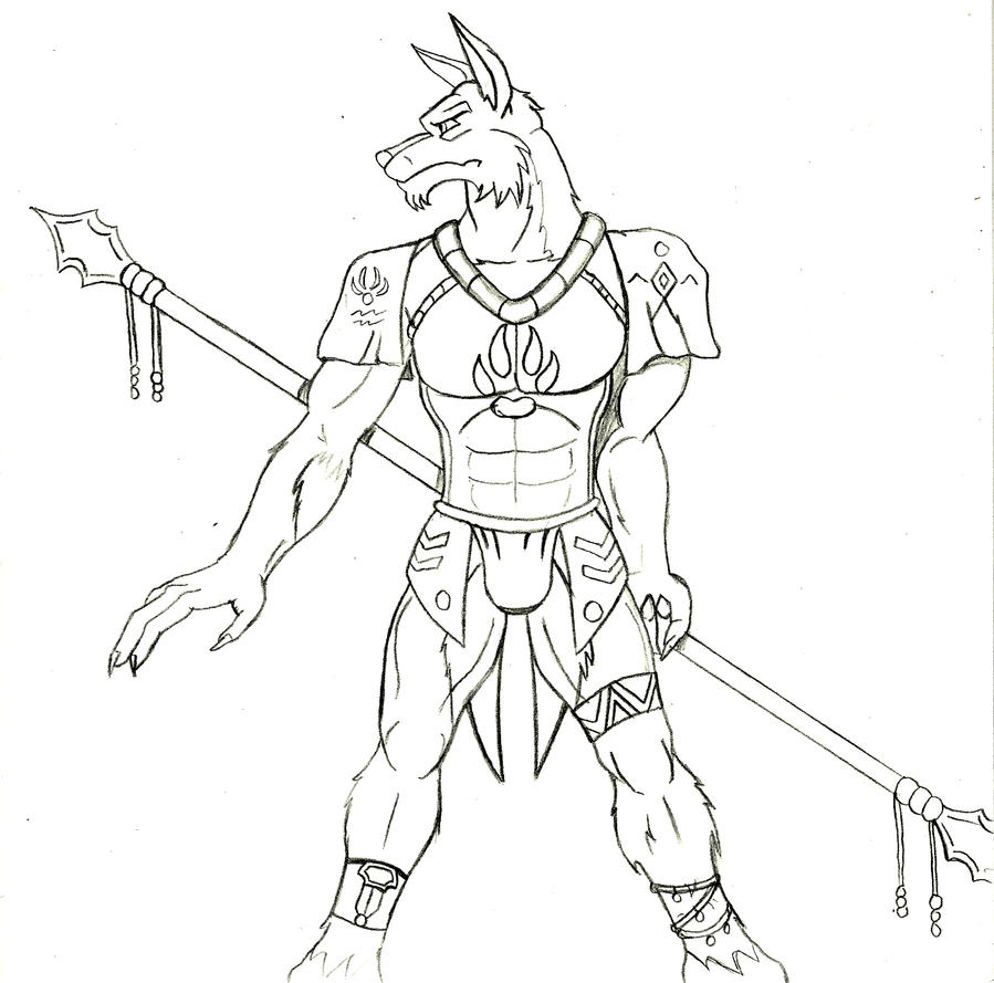 how to draw a tribal wolf easy