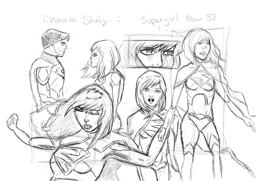 Supergirl Character Study by PaulHewittArt