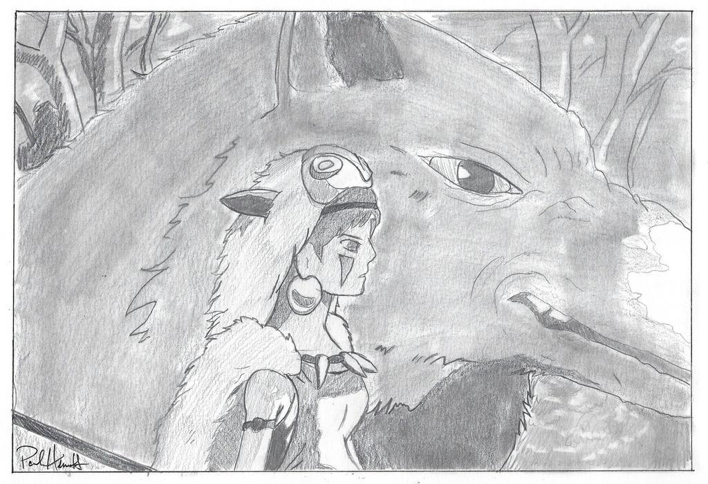 Princess Mononoke by PaulHewittArt