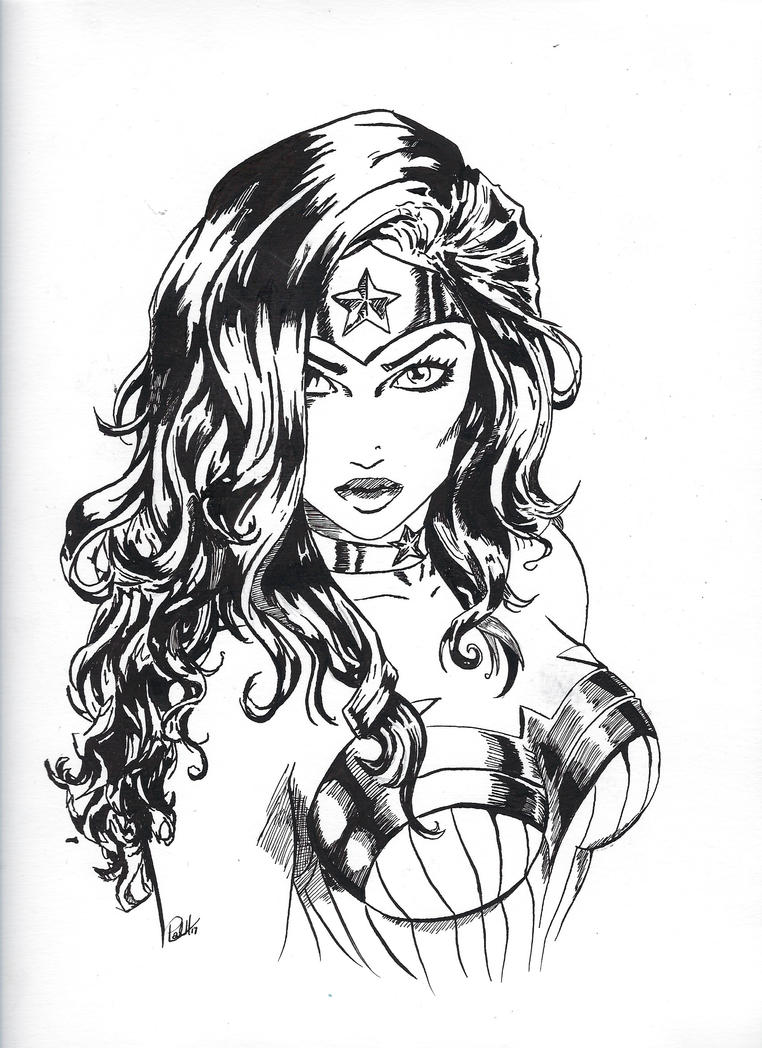 Wonderwoman! Inking by PaulHewittArt