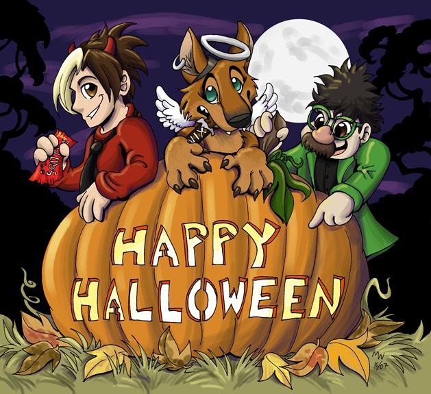 Lunargyros - Happy Halloween by LynxGriffin