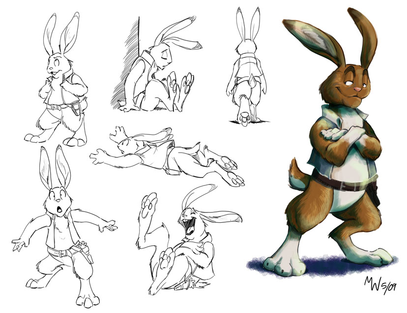 Jack Lope Turnaround by LynxGriffin