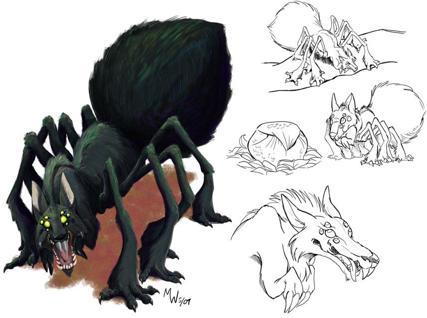 Wolf Spider tunaround by LynxGriffin