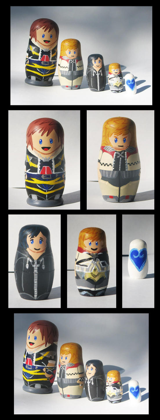 Sora's Heart Nesting Dolls by LynxGriffin