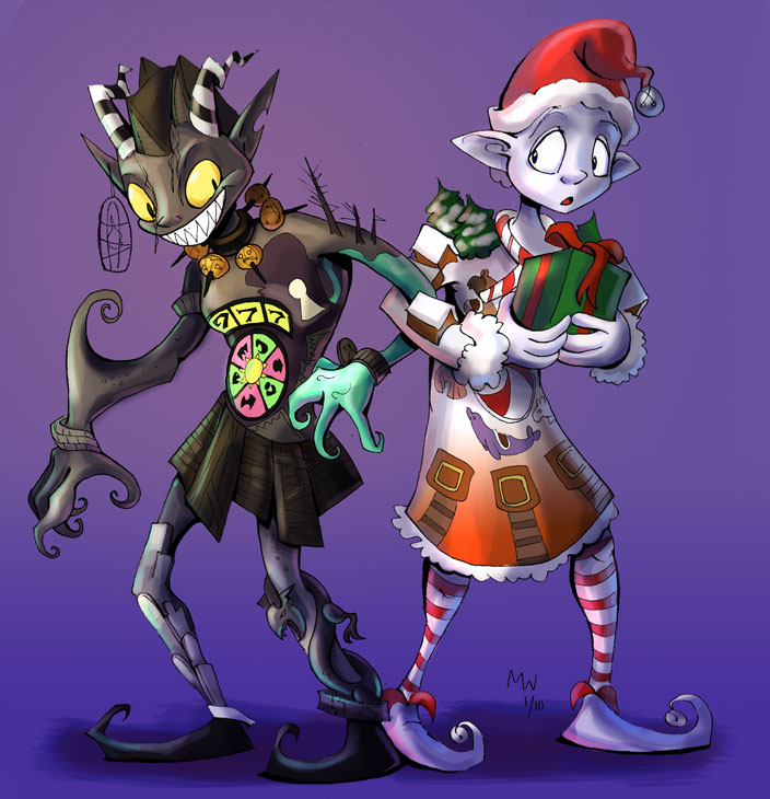 Halloween Town+Christmas Town by LynxGriffin