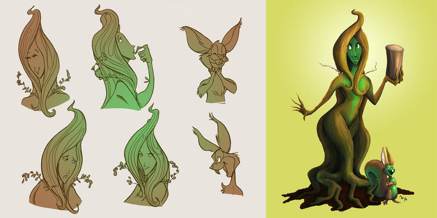Mona the Wood Goddess by LynxGriffin