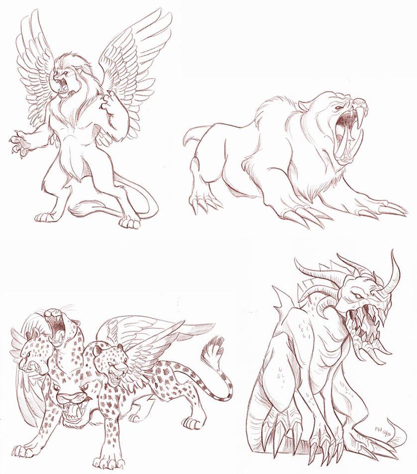 Beasts Of Daniel 7 By LynxGriffin On DeviantArt