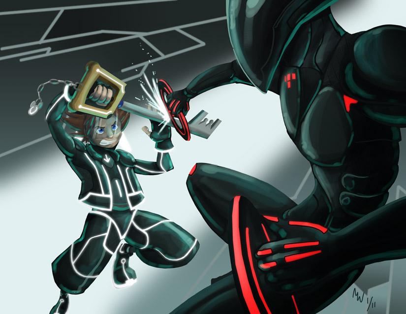 Comm - Sora vs Rinzler by LynxGriffin