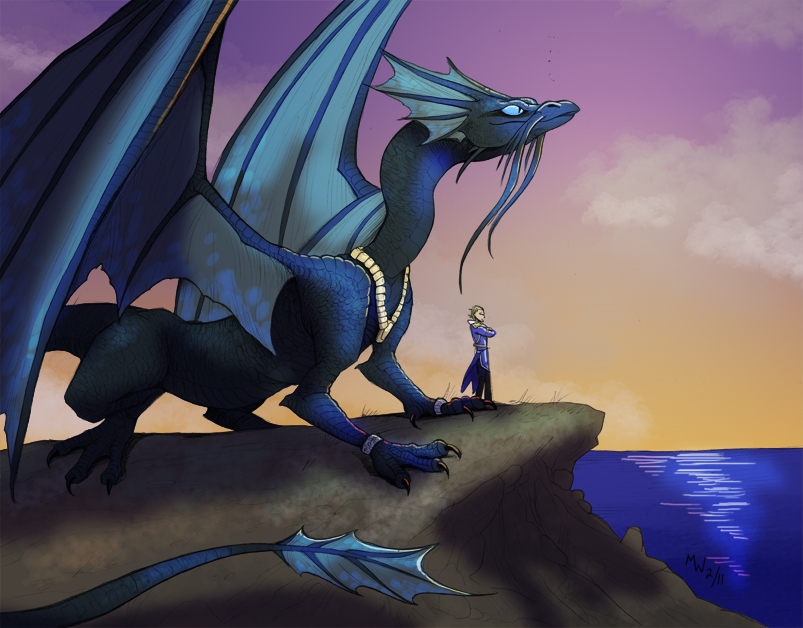 Gift - Temeraire and Laurence by LynxGriffin