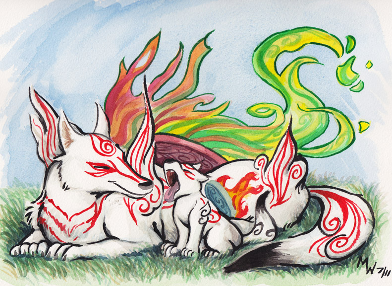 Okami - Sun and Son by LynxGriffin