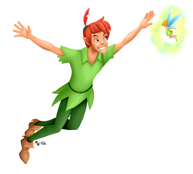 All hearts peter pan and tinker bell by lynxgriffin on deviantart - Image de peter pan ...