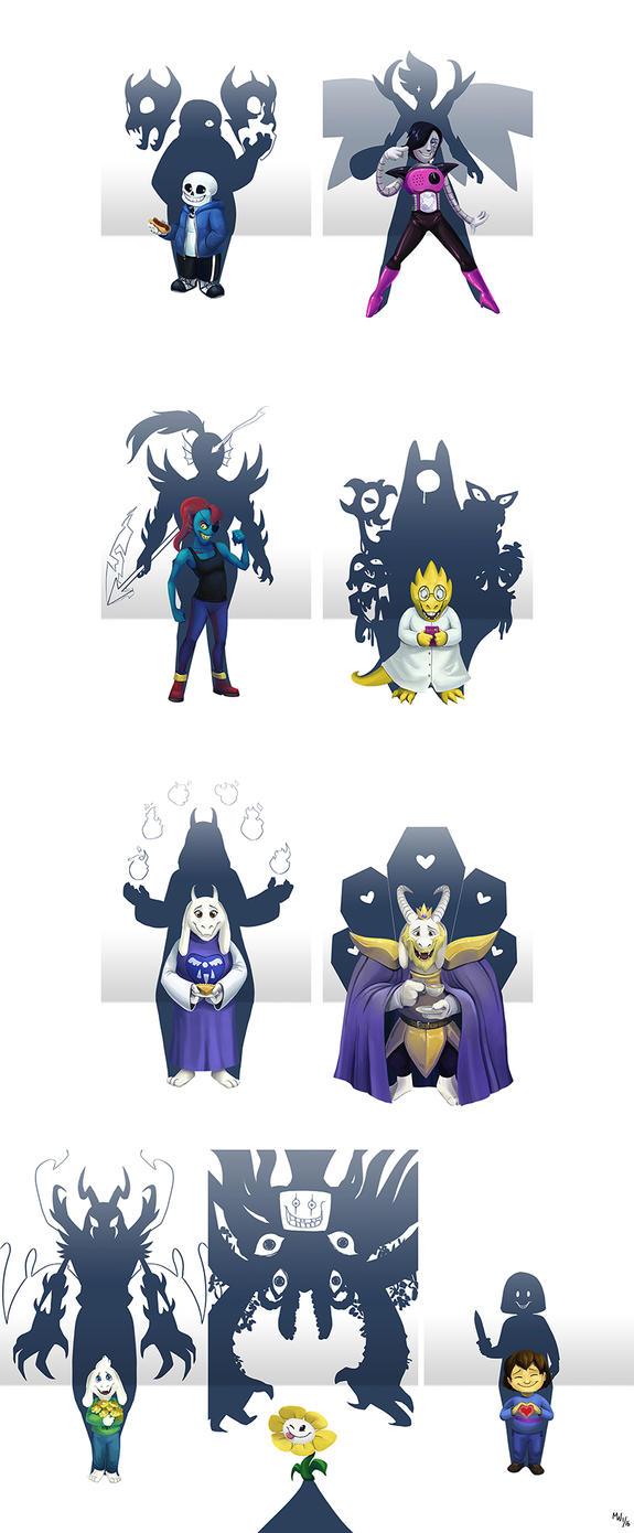 Undertale Shadows by LynxGriffin