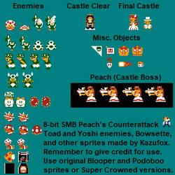 8-bit NES SMB Toad/Yoshi Enemy Sprites by Kazufox