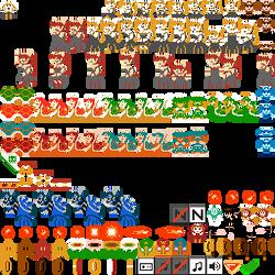8-bit SMB DMCA Battle Royale - Bowsette Set 1 by Kazufox